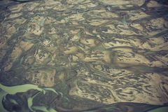 Floden sandpapprar deltan Royaltyfri Fotografi