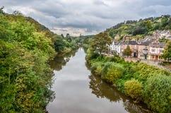 Floden Severn på Ironbridge, Shropshire Royaltyfria Bilder