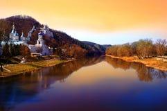 Floden Seversky Donets Svyatogorsk Slavyansk Ukraina Royaltyfria Bilder