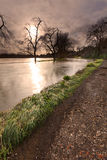 Floden Wey i flod Arkivfoto