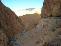 Floder av Ladakh, Indien arkivbilder