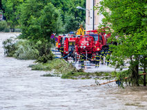 Floder i 2013 i steyr, Österrike Arkivbilder