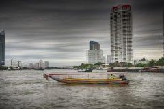 Flodfartyg, Bangkok Fotografering för Bildbyråer