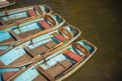 Flodfartyg i Oxford arkivfoto