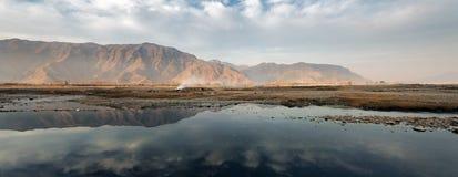 Flodflugsmälla, Pakistan Arkivfoto