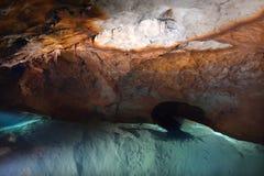 Flodgrotta i blåa berg New South Wales Austr för Jenolan grottor Royaltyfria Foton