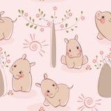 flodhästwallpaper Royaltyfri Bild