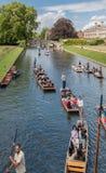 Flodkam Cambridge England Fotografering för Bildbyråer