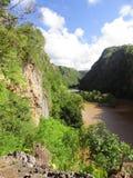 Flodkanjon arkivfoto