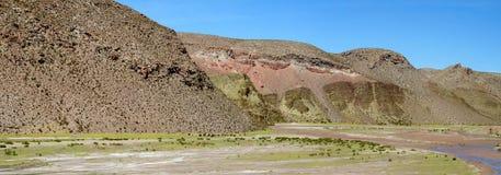 Flodkanjon på altiplano Royaltyfri Bild