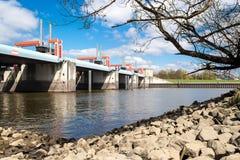 Flodkontroll Fotografering för Bildbyråer
