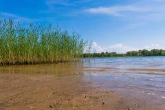 Flodlandskap av Volgaen Royaltyfri Foto