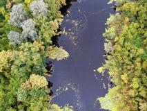 Flodlandskap i Ungern arkivfoton