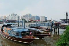 Flodlivet Chao Phraya River Arkivbild