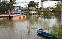 flodlopburiproblem thailand Royaltyfri Foto
