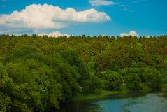 Flodlune Fotografering för Bildbyråer