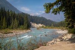 Flodplats för steniga berg Royaltyfri Fotografi