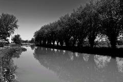 Flodreflexion Arkivfoto