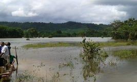 Flods в Ratnapura Шри-Ланке Стоковое фото RF