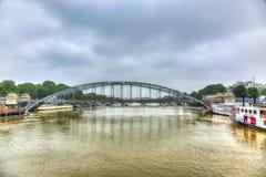 FlodSeine översvämning i Paris Royaltyfria Bilder