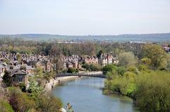 FlodSevern sikt, Shrewsbury Royaltyfria Foton