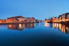 Flodsikt av Gdansk Arkivfoto