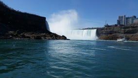 Flodsikt av Niagara Falls Royaltyfri Foto