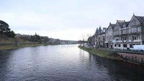 Flodsikt från Inverness Skottland Fotografering för Bildbyråer