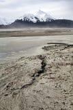 Flodslam i vinter Arkivfoton