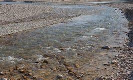 Flodstenar i vattnet Royaltyfria Foton