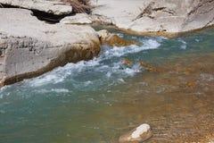 Flodstenar i vattnet Fotografering för Bildbyråer