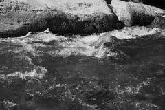 Flodstenar i vattnet Arkivbild