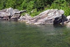 Flodstrand för Seneca WV Arkivbild