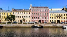 Flodstrand Fontanka Royaltyfri Foto
