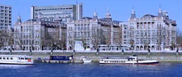 Flodstrand i London Arkivbilder
