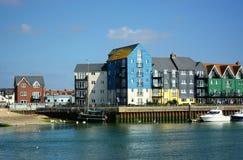 Flodstrandegenskap, Littlehampton, Sussex, UK royaltyfri foto