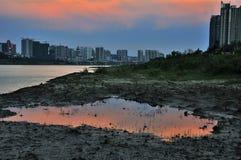 Flodstranden i Zhuzhou Arkivfoto