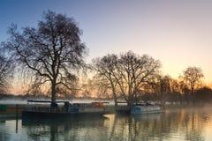 FlodThemsen i Oxford Arkivfoto