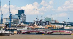 FlodThemsen, London, England Arkivfoto