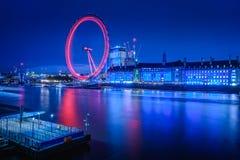 FlodThemsen och London öga Arkivbild