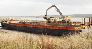 FlodThemsenbred flodmynning UK Arkivbilder