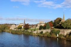 Flodtweed på Kelso, gränsregion, Skottland Arkivfoto