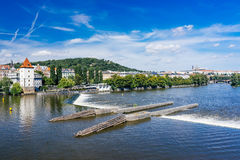 FlodVltava Prague Tjeckien Royaltyfri Bild