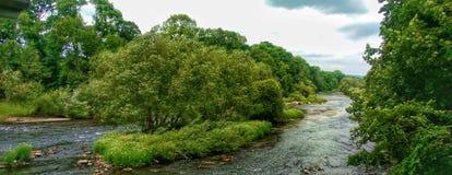 FlodWye i Juni, Wales, UK royaltyfri foto