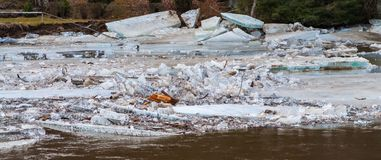 Floe on river Stock Images