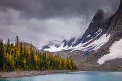 Floe See in Nationalpark Kootenay, Britisch-Columbia lizenzfreie stockbilder