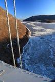 Floes de gelo no Hudson fotografia de stock royalty free