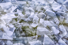 Floes on a frozen pond. Stock Photography