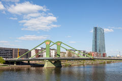Floesser most w Frankfurt magistrali Obraz Royalty Free