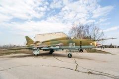 Flogger H Jet Fighter di BN di MIG 23 Fotografia Stock